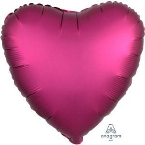Satin Luxe Pomegranate Heart Foil Balloon 18inch