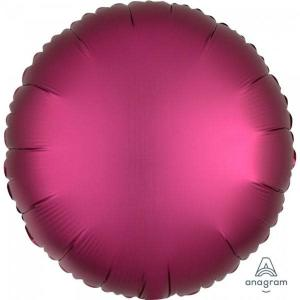 Satin Luxe Pomegranate Circle Foil Balloon 18inch