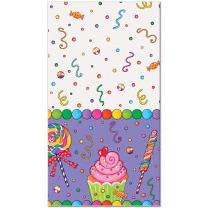 Candy Party Plastic Tablecover