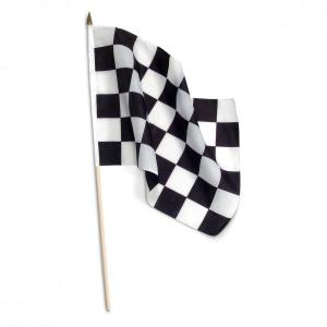 Checkered Flag with plastic stick 60cm