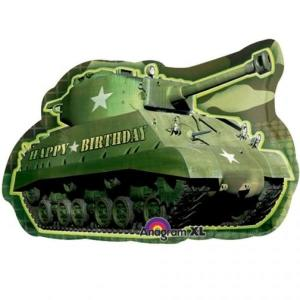 Camouflage Army Tank Supershape Foil Balloon