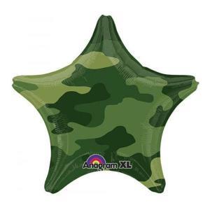 Camouflage  STAR  Balloon 18 inch