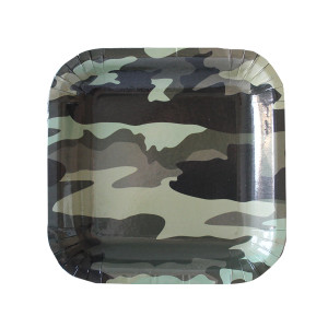 Camo Military Lunch Plates (10)