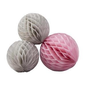 Chevron Divine - Honeycomb Balls Grey and Pink