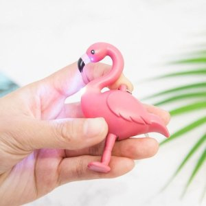 Flamingo Light Keyring