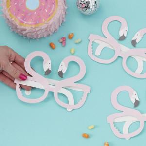 Flamingo Fun Paper Glasses (8)