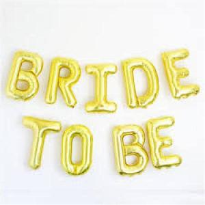 Bride to Be Gold Foil Balloon Kit