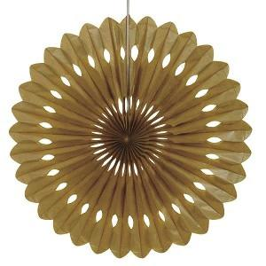 Gold Decorative Fan