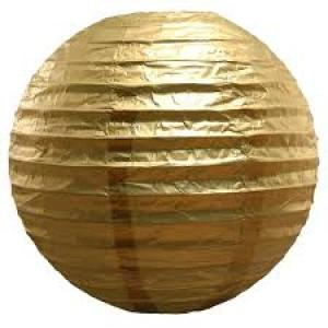 Gold Wired Lantern (35cm)
