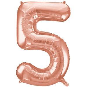 Rose Gold Metallic Foil Balloon Number 5-XXX