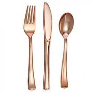Rose Gold Cutlery Set (18 )