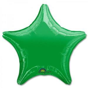 Green Metallic Star Foil Balloon