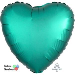 Satin Luxe Jade Heart Foil Balloon 18inch