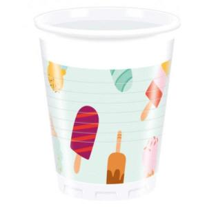 Ice Cream Passion Plastic Cups (8)