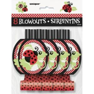Lively Ladybug Blow Outs (8pce)