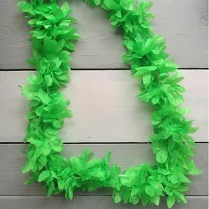 Luau Flower Garland Neon Green