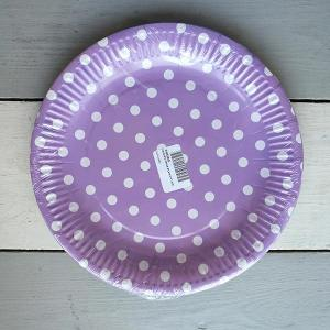 Lavender Dotted Paper Plates (10)