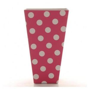 Magenta Pink Dotted Popcorn boxes (10)