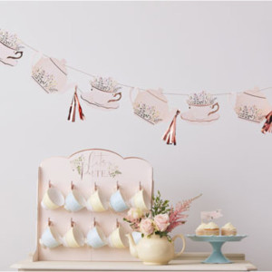 Lets ParTea Bunting With Teapot and Tassels