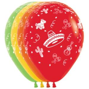 Mexican Balloons Assorted (5)