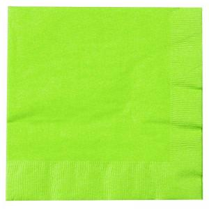 Neon Green Beverage Napkin (20)