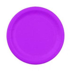Neon Purple Paper Plates Small (20)
