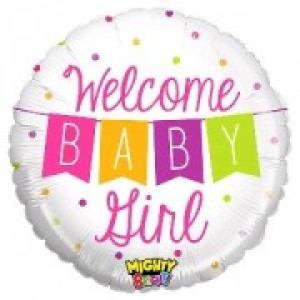 Baby Girl Banner Foil Balloon 21 inch