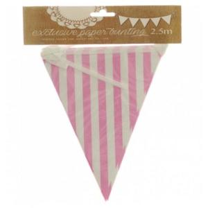 Light Pink Striped Bunting