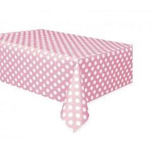 Light Pink Dotted Table Cover (GDC)