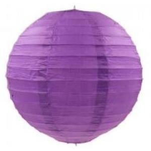 Violet Wired Lantern 25cm