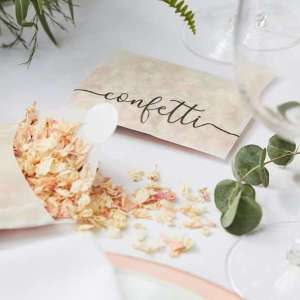 Botanical Wedding Dried Petal Confetti Envelope