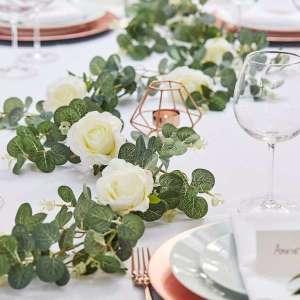 Botanical Wedding Eucalyptus and White Flower Garland