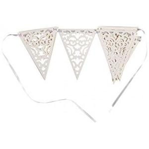 White Lace Paper Bunting 12ft