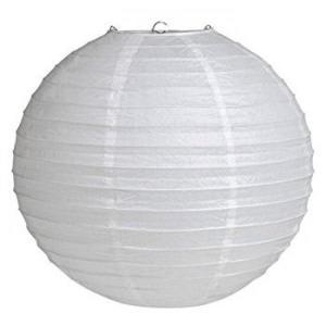 White Wired Lantern 30cm