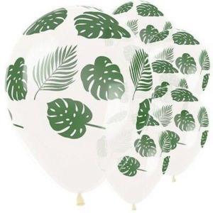 Jungle Leaves on Crystal Latex Balloons (5)