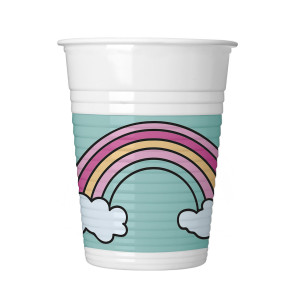 Magic Unicorns Plastic Cups (8)