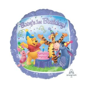 Winnie the Pooh 1st Birthday Foil Balloon 18 inch