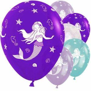 Mermaid Latex Assorted Balloons (5)