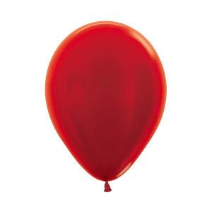 Metallic Pearl Red Latex Balloons (5)