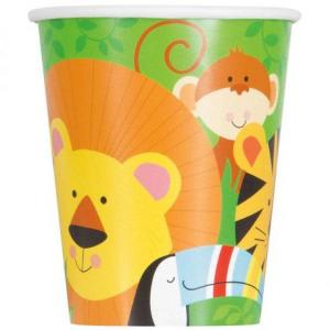 Animal Jungle Paper Cups (8)