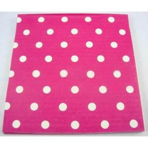 Bright Pink Dotted Serviettes (20)