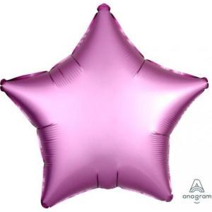 Satin Luxe Flamingo Star Foil Balloon 18inch