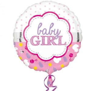 Baby Girl Scallop Balloon 18 inch