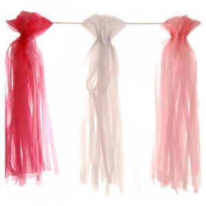 Pink Tissue Paper Garland