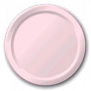Light Pink Paper Plates Large (8)