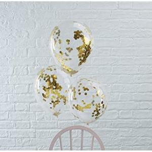 Pick & Mix Confetti Balloons GOLD (5)