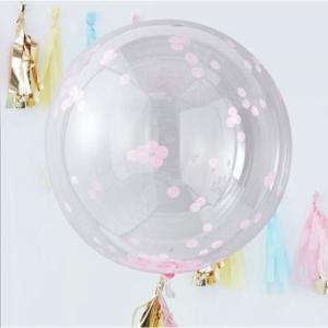Pick & Mix Large Orb Balloon Pink Confetti (3)