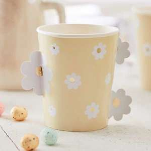 Daisy Crazy Gold Foiled Pop Out Daisy Cups (8)