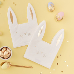 Carrot Crunch Bunny Serviettes (16)