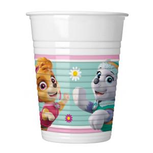 Pink Paw Patrol Plastic Cups (8)